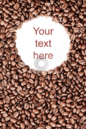 Coffee Beans stock photo, Coffee beans with empty space for your text or image by Tommy Maenhout