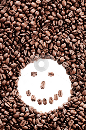 So good it should be illegal stock photo, Coffee bean background with a smily face by Tommy Maenhout