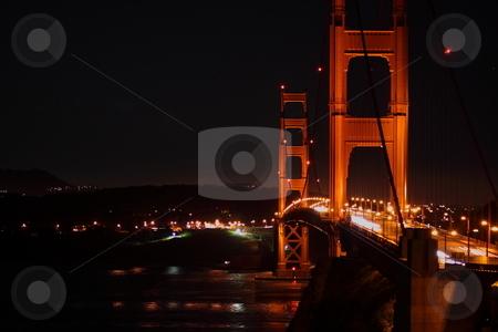 Golden Gate Bridge stock photo, The Golden Gate Bridge at night in San Francisco California by Richard Clack