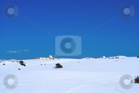 Astronomy stock photo, Observatory site of Calern by a sunny day in winter (french riviera). by Serge VILLA