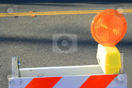 Warning Road Sign stock photo,  by Michael Felix