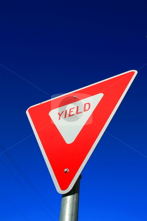 Yield Sign stock photo,  by Michael Felix