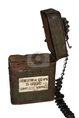 Military Case stock photo, Close up view of a military case fro the world war II isolated by Tudor Antonel adrian