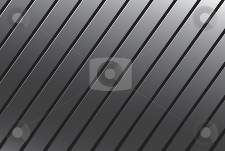 Silver Grooved Metal stock photo, This silver grooved metal texture makes a great background. by Todd Arena