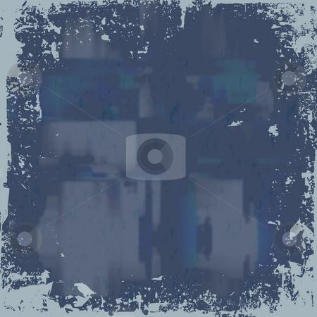 Blue Grunge Background stock photo, A worn looking grunge background in a blue tone. by Todd Arena