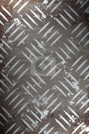 Metal Diamond Plate stock photo, Diamond plate metal texture - a very nice background for an industrial or construction type look. by Todd Arena