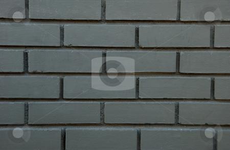 Gray Brick Wall stock photo, Close up of gray painted brick wall. by Denis Radovanovic