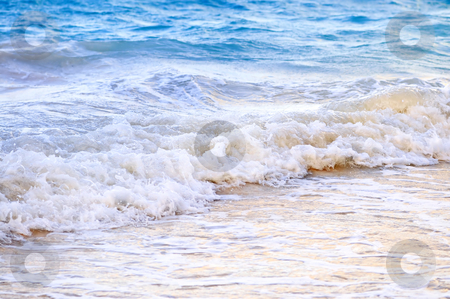 Waves breaking on tropical shore stock photo, Tropical Caribbean sea waves breaking on the shore by Elena Elisseeva