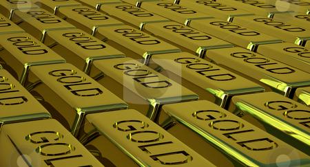 Goldbars stock photo, Lots of goldbars by Magnus Johansson
