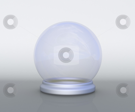 Fortune_ball stock photo, Crystal fortune ball on smooth background by Magnus Johansson