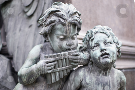 Sculptures of musicians stock photo, Sculptures of musicians around the famous beethoven monument  which is located in the first district of vienna, the capital of austria by Alexander L?