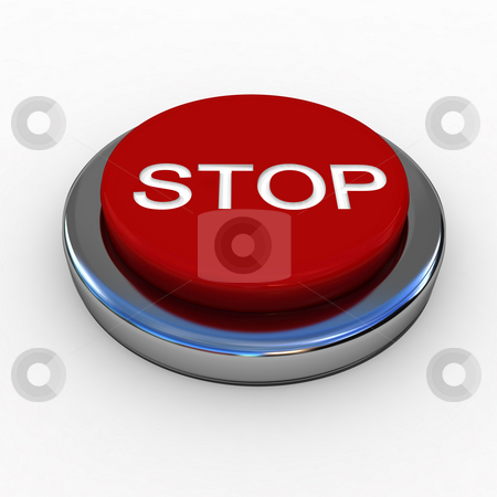 Red Button stock photo, Red button isolated over white by Magnus Johansson