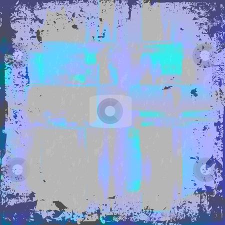 Blue Grunge Vector stock photo, A worn looking grunge background in a blue tone. by Todd Arena