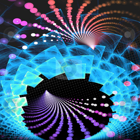 Abstract Fractal Layout stock photo, An abstract fractal vortex background with plenty of copyspace - add style to any design. by Todd Arena