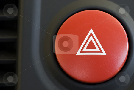 Warning triangle stock photo, A hazard warning flasher button from a car dashboard by Stephen Gibson