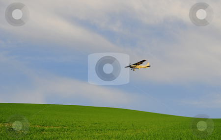 Farm plane stock photo, Plane?s flying over farmland by Magnus Johansson