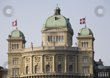 Bundeshaus - Federal Palace stock photo, The Swiss government building Bundeshaus or Federal Palace of Switzerland, headquarter one of the oldest democracies in the world, Berne, capital city of Switzerland, Europe by mdphot
