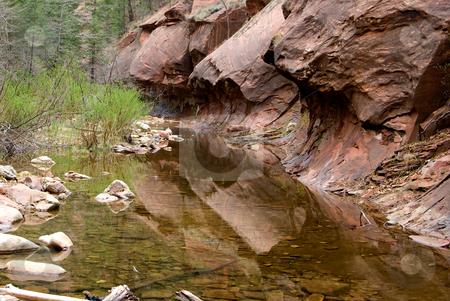 Creek in Sedona AZ stock photo, Creek on the West Fork Trail in Sedona, AZ by Randy Miramontez