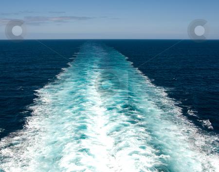 Wake from Cruise Ship stock photo, Wake from cruise ship by Randy Miramontez