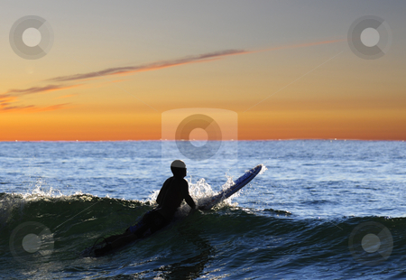 Evening session stock photo, Surfsession in the late evening by Magnus Johansson