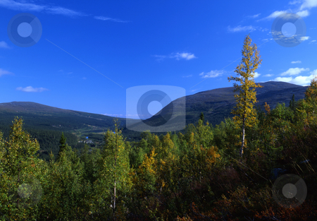 Mountain stock photo, Mountain in Sweden by Ingvar Bjork