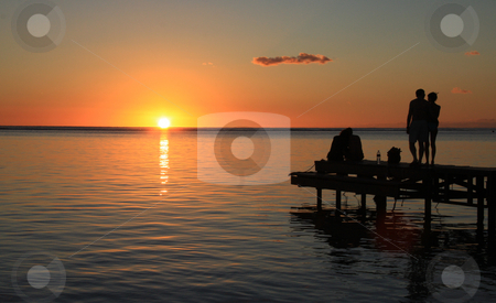 Sunset in Mauritius stock photo, Sunset in Mauritius by Ingvar Bjork
