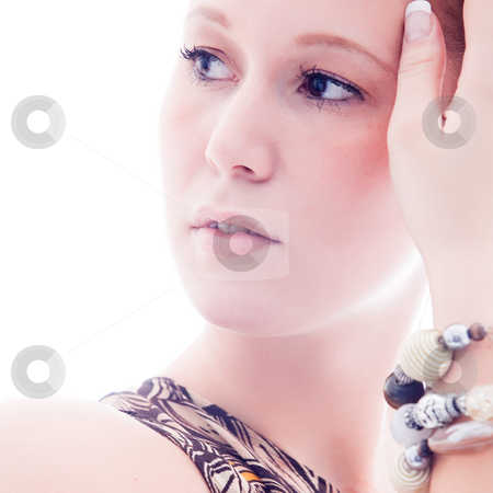 Square cosmetics stock photo, Young  cosmetic woman with make up and jewels by Frenk and Danielle Kaufmann