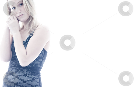 Blond in lingerie stock photo, Sexy blond woman in beautiful sexy lingerie by Frenk and Danielle Kaufmann