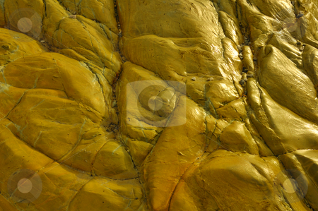 Wet rock stock photo, A closeup of wet sandstone rock by the seashore. Lit from the side. Suitable for abstract background. by Alistair Scott