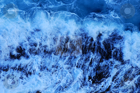 Breaking wave stock photo, Close up of the foam of a breaking wave, suitable as a graphic background. by Alistair Scott