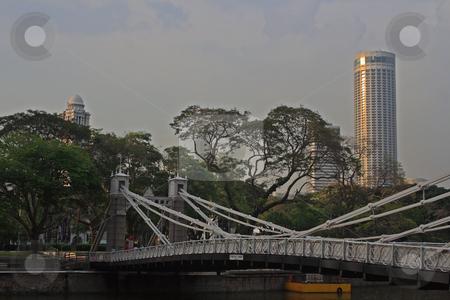 Cavenach Bridge, Singapore stock photo, Cavenach Bridge, Singapore, photographed in October 2009 by Manuela Schueler