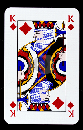 King of diamonds stock photo, King of diamonds isolated on black by Ingvar Bjork
