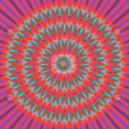 Sunny mandala pattern stock photo, Texture of concentric striped red sunlight rings by Wino Evertz
