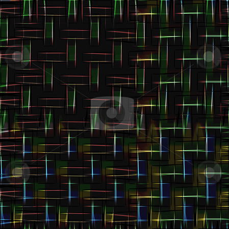 Fire lines on black stock photo, Abstract pattern of fire light lines on black background by Wino Evertz