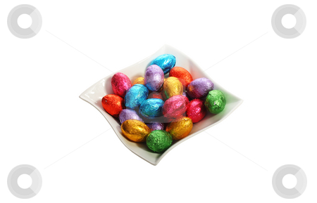 Easter holidays chocolate image stock photo, Easter holidays chocolate image isolated with area for text by Christopher Meder