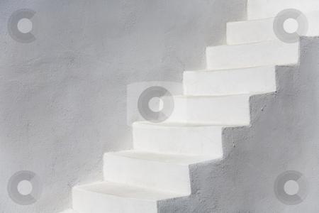 Simply White stock photo, White stairs, Santorini, Greece, Europe by mdphot