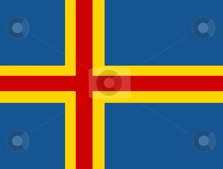 Aaland Flag stock photo, 2D illustration of the flag of Aaland vector by Tudor Antonel adrian