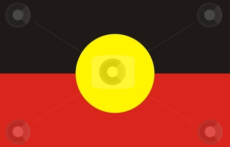 Aboriginal Flag stock photo, 2D illustration of the flag of Aboriginal by Tudor Antonel adrian
