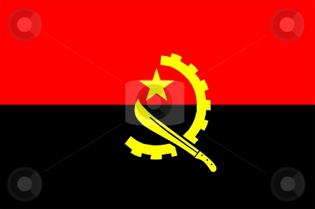 Angola Flag stock photo, 2D illustration of the flag of Angola vector by Tudor Antonel adrian