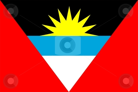 Antigua And Barbuda Flag stock photo, 2D illustration of the flag of Antigua And Barbuda vector by Tudor Antonel adrian