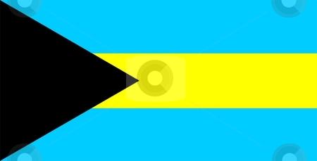 Bahamas Flag stock photo, 2D illustration of the flag of Bahamas vector by Tudor Antonel adrian