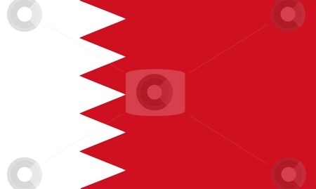 Bahrain Flag stock photo, 2D illustration of the flag of Bahrain vector by Tudor Antonel adrian