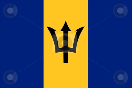 Barbados Flag stock photo, 2D illustration of the flag of Barbados vector by Tudor Antonel adrian