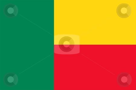 Benin Flag stock photo, 2D illustration of the flag of Benin vector by Tudor Antonel adrian