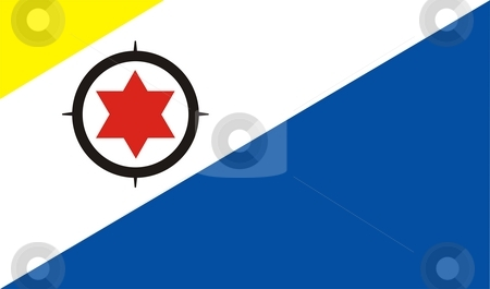 Flag Of Bonaire stock photo, 2D illustration of the flag of Bonaire by Tudor Antonel adrian