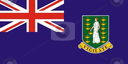 British Virgin Islands Flag stock photo, 2D illustration of British Virgin Islands flag color vector by Tudor Antonel adrian