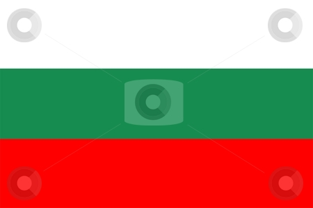 Bulgaria Flag stock photo, 2D illustration of the flag of Bulgaria vector by Tudor Antonel adrian