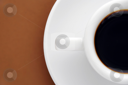 Half an espresso stock photo, Half a cup and saucer of espresso by Paul Turner