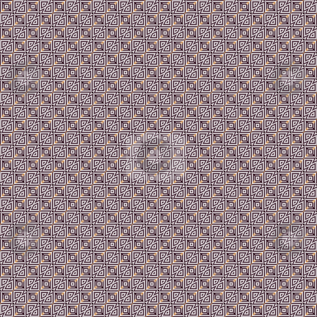 Tribal maze pattern stock photo, Seamless texture of intertwined diagonal brown and yellow shapes by Wino Evertz