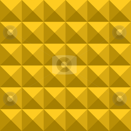 Yellow gold triangle pattern stock photo, Seamless texture of gold squares splitted in triangles by Wino Evertz